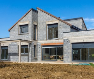 maison neuve en chantier